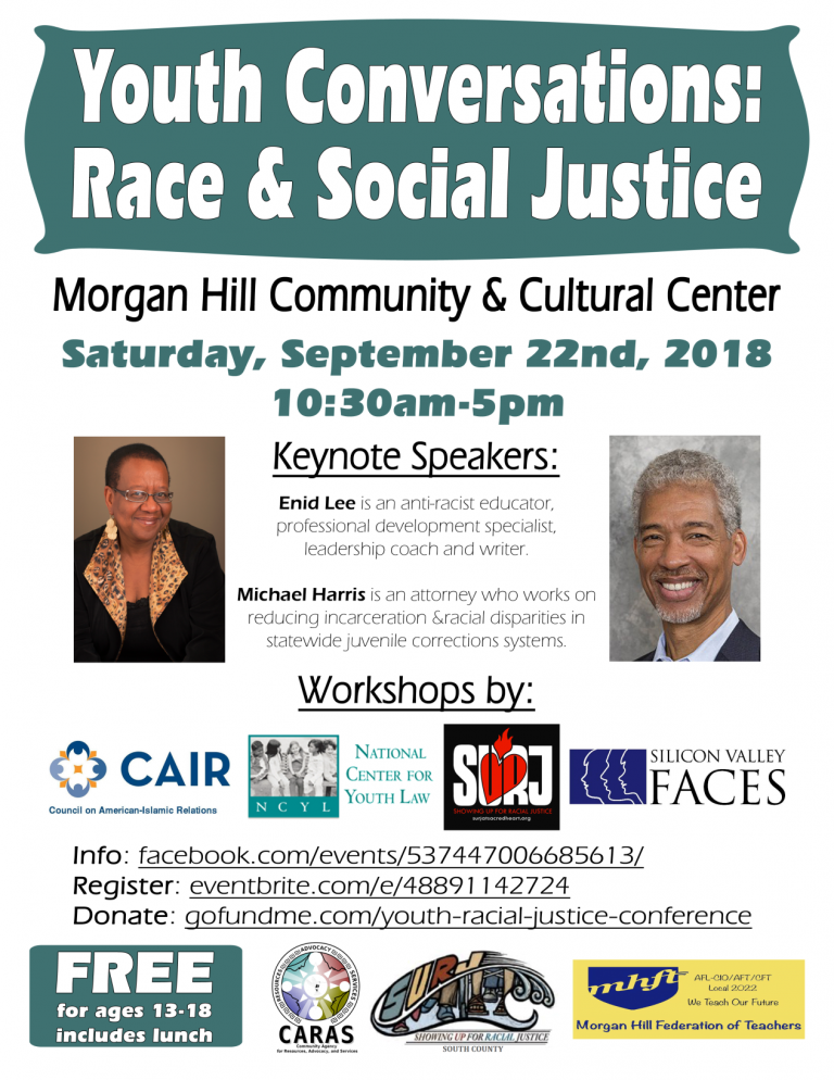 Youth conference on race and social justice set for Sept. 22