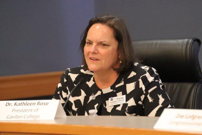 Kathleen Rose Gavilan College president superintendent